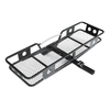 Steel strong vehicles folding hitch mount cargo carrier